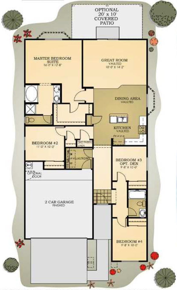 Plan 1655 Copper Canyon by Providence Homes