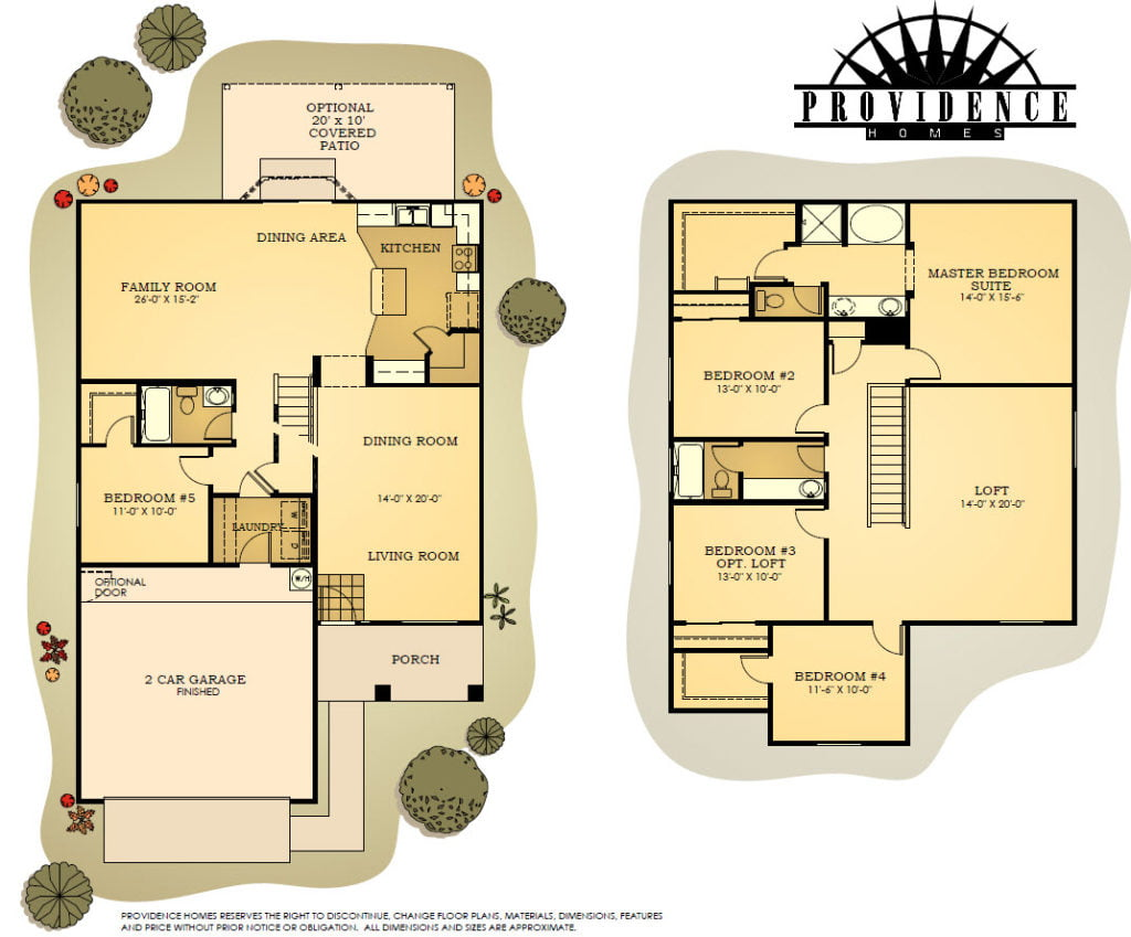 Plan 2323 Copper Canyon by Providence Homes